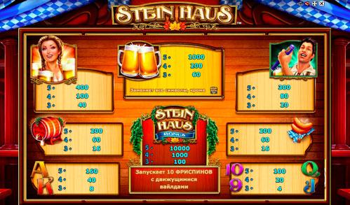 Огляд ігрового автомата Stein Haus
