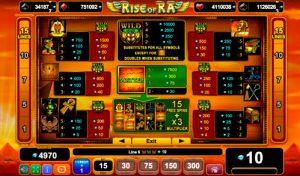 Таблиця максимальних виплат Rise of Ra