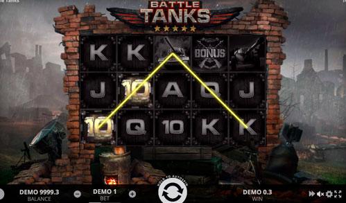 Виграшна комбінація ігрового автомати Battle Tanks