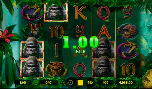 Виграшна комбінація ігрового автомати Gorilla Kingdom