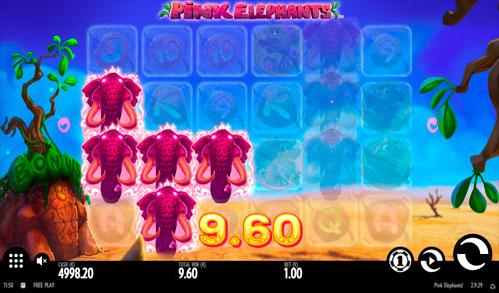 Виграшна комбінація ігрового автомати Pink Elephants