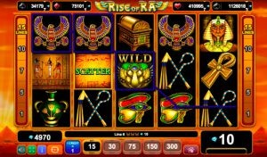 Виграшна комбінація ігрового автомати Rise of Ra